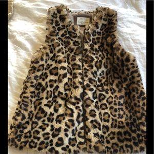 Zara girls leopard vest Size 11/12